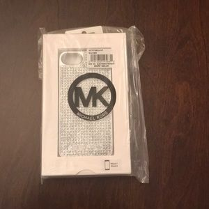 Michael Kors Silver iphone Case with stone detail